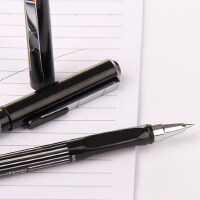 金万年G-1229中性笔 铁夹条纹拔帽 商务 0.5MM签字笔