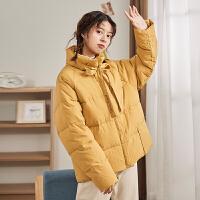 【直降价299元叠加200-30】唐狮羽绒服女短款新款面包服羽绒服女小个子韩版宽松