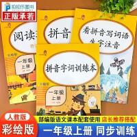 拼音手册+看拼音写词语+拼音字词训练本+阅读理解一年级上册语文人教部编版