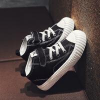 男童鞋子春秋款中大童小学生春季女童时尚帆布鞋
