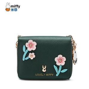 米菲新款短款钱包女可爱韩版花朵零钱包简约时尚小钱夹多功能手提链条钱包