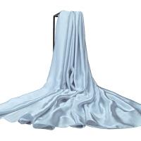 时尚桑蚕丝丝巾百搭新款纯色大规格真丝丝巾围巾披肩两用 可礼品卡支付