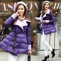 2018冬装新款大码女装冬季中长款保暖奢华羽绒服外套 8821