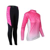 春秋 女款骑行服长袖长裤套装山地自行车骑行服 自行车服装骑行套装