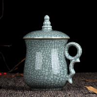 【品牌热卖】会议室茶杯青瓷茶杯办公室会议酒店茶水杯陶瓷礼品杯子带盖男女士泡茶杯 印象西湖哥粉铁线