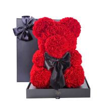 玫瑰熊永生花 彼时爱玫瑰熊永生花玫瑰花礼盒七夕情人节礼物送女友生日