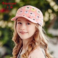 kenmont女童棒球帽夏天儿童帽子女韩版潮卡通印花太阳帽鸭舌帽4706