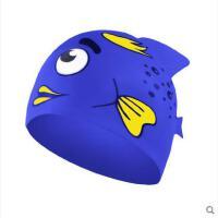 儿童泳帽 硅胶防水卡通游泳帽新品泡泡鱼可爱男女童宝宝泳装