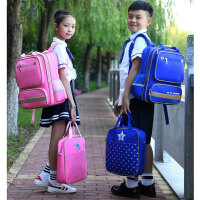 小学生书包男女童双肩背包1-3-4-6年级儿童书包6-12周岁男孩防水