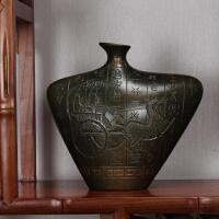 书柜古董架老板办公室摆件创意博古架摆件现代招财个性艺术品 仿青铜出使手工