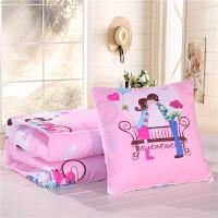 多用午睡包枕汽车抱枕被子两用多功能夏凉被四季可爱卡通动漫靠被 50X50展开1.5宽 2长