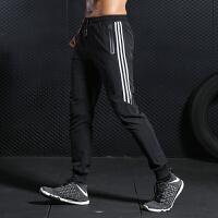 跑步裤子男运动速干透气健身裤宽松训练夏薄休闲足球裤长裤收小腿