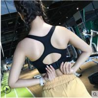 瑜伽运动文胸防震健身内衣跑步背心高强度防下垂聚拢定型搭扣bra