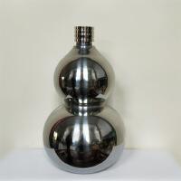 葫芦水壶304不锈钢葫芦小酒壶仿古酒瓶半斤一斤三斤装便携式户外运动水壶