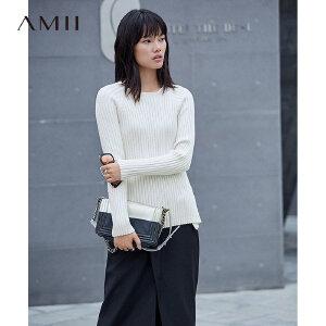 【品牌团 1件7折/2件5折】Amii2017冬新品优雅气质显瘦好穿长袖女上衣毛衣  11767460