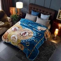 加厚双层复合毛毯冬季婚庆盖毯单双人珊瑚绒毯子床单毯午睡沙发毯 200cmx230cm(约8斤)
