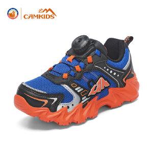CAMKIDS男童鞋中大童户外登山鞋 网面透气运动鞋休闲儿童鞋