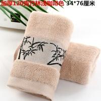 加厚竹纤维毛巾柔软吸水家用竹炭美容洗脸面巾比棉好用TD 76x34cm