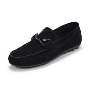 富贵鸟 时尚反绒轻便豆豆鞋驾车鞋休闲男鞋