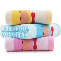[当当自营]三利 纯棉卡通印花儿童毛巾混色3条装28×50cm A面纱布B面毛圈洗脸面巾