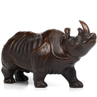 铜犀牛摆件工艺品 开业礼品商务办公室铜牛摆设