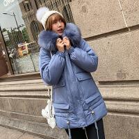 【极速发货 超低价格】2020冬季新款棉服棉衣派克服女韩版时尚夹克毛领加厚棉袄保暖外套