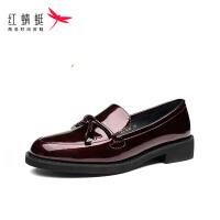 【红蜻蜓限时抢购,1件2折】红蜻蜓套脚女鞋夏季新款真皮透气舒适优雅低跟平跟单鞋女