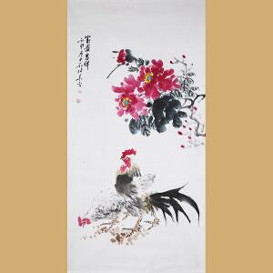 """""""苦禅遗风""""安徽省美术家协会会员 著名水墨画家张华先生作品――――富贵吉祥"""