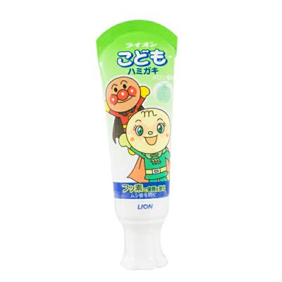 日本 LION狮王可吞咽 面包超人 儿童牙膏防蛀健齿 哈密瓜味40g