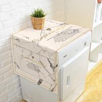 ins大理石洗衣机棉麻防尘罩韩式单开门双开门冰箱防尘罩盖布盖巾