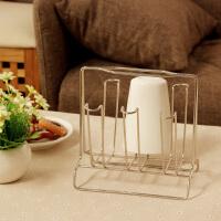 【满减】欧润哲 不锈钢杯架 水杯挂架 创意杯架子置物架 沥水杯架