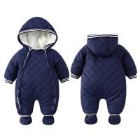 20180504235002160女婴儿连体衣服0一岁3个月1男宝宝秋冬装6保暖外套装加绒加厚棉衣