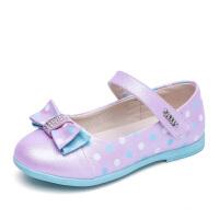 史努比童鞋女童皮鞋春季新款公主单鞋蝴蝶结舞蹈鞋女学生单鞋