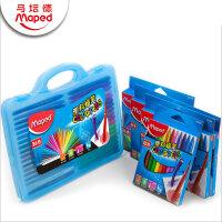 马培德12色18色24色36色48色塑料蜡笔学生儿童绘画不粘手蜡笔