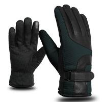 骑行手套男女款全指保暖加厚自行车手套长指防水防滑减震冬