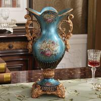 花瓶摆件 客厅插花复古奢华 家居创意玄关餐厅欧式装饰工艺品礼品