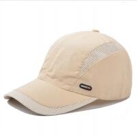 棒球帽韩版男士鸭舌帽透气速干帽子男夏天户外运动款防晒遮阳帽潮 可调节