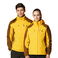 户外冲锋衣男三合一两件套装秋冬情侣女防寒滑雪登山服