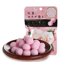日本进口嘉娜Kracie宝玫瑰香味樱花味香体糖32g 约会口香零食糖果