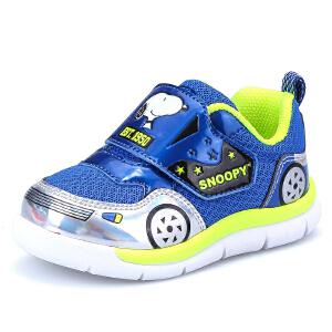 史努比童鞋 秋季新款童鞋男童运动鞋 透气休闲鞋小童学生跑步鞋