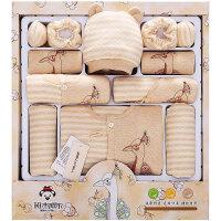 班杰威尔 彩棉婴儿衣服新生儿礼盒秋冬季加厚初生满月宝宝套装母婴用品 加厚孔雀