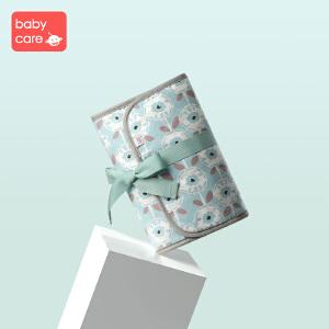 babycare妈咪包 多功能便携孕妇包奶瓶包围腰收奶袋外出用品包 拉希奈蓝底草花纹