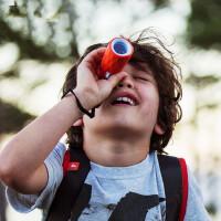 户外儿童定焦光学多彩单筒望远镜 户外徒步露营 小巧便携