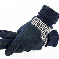加绒皮手套男冬加厚防寒保暖男士棉手套冬季猪皮手套骑车秋冬防风