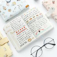韩国文具可爱皮面笔记本文具手账本学生小清新记事本子日式手帐本