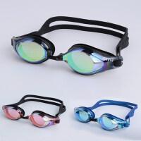 健身游泳眼镜室内游泳眼镜泳镜防雾泳镜电镀炫彩泳镜