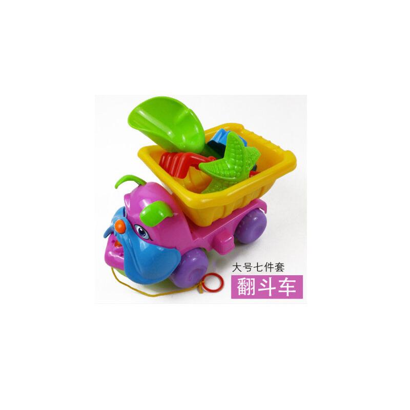 大号翻斗车套装儿童沙滩玩具工程车6件套宝宝玩沙铲子工具
