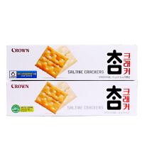 韩国进口可来运太口咸饼干56g 可瑞/克丽安苏打饼干Crown原味梳
