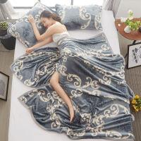 珊瑚绒毯子加厚法兰绒毛毯床单1.8m单人学生办公室午睡毛巾小被子 i6m