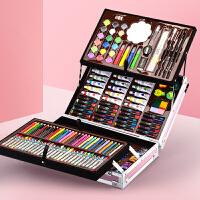 水彩笔套装儿童画笔美术小学生生日礼物彩笔安全无毒可水洗幼儿园绘画工具软头彩色笔蜡笔颜色笔女孩新年盒装